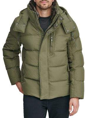 Andrew Marc Baltic Faux Fur Quilted Hooded Jacket