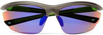 Westward Leaning Volt D-frame Rubber Mirrored Sunglasses - Black