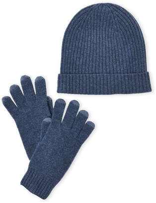 Qi Two-Piece Cashmere Hat & Tech Glove Set