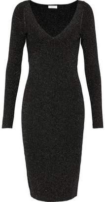 A.L.C. Arvida Metallic Ribbed Wool-Blend Dress