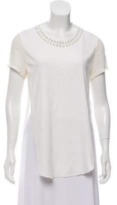 3.1 Phillip Lim Short-Sleeve Crew Neck T-Shirt White Short-Sleeve Crew Neck T-Shirt