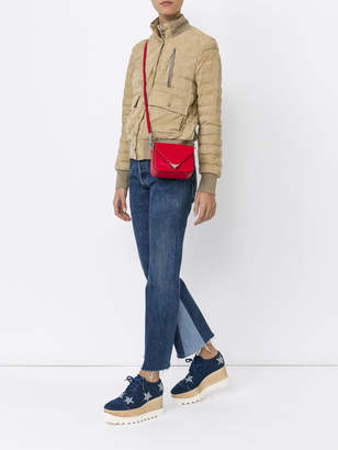 Moncler Sile quilted suede jacket