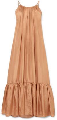BRIGITTE Kalita Silk-habotai Dress - Bronze