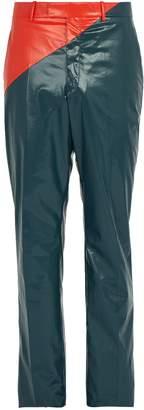Calvin Klein Colour-block rubberized cotton trousers