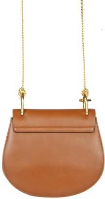 Chloé Mini Drew Tobacco Suede & Leather Bag