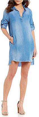 Chelsea & Violet Frayed Hem Dress $98 thestylecure.com