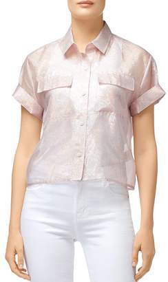 J Brand Mabel Shimmery Cropped Shirt