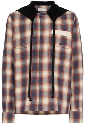 Faith Connexion hooded check cotton shirt