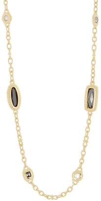 Judith Ripka 14K Gold Plated Sterling Silver Harmony Multi-Stone Chain Necklace
