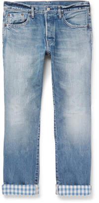 Co Fabric-Brand & Hai Slim-Fit Distressed Selvedge Denim Jeans