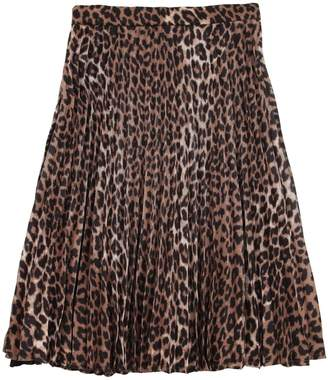 LES COYOTES DE PARIS Opus Leopard Print Midi Skirt