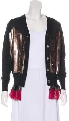 Sacai Embellished Long Sleeve Cardigan