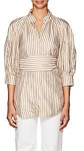 Zimmermann WOMEN'S BELTED BLOUSE-PEACH SIZE 3