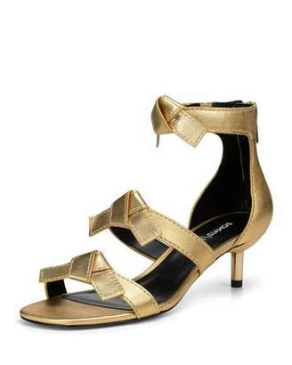 Donald J Pliner Cady Metallic Leather Bow Sandals