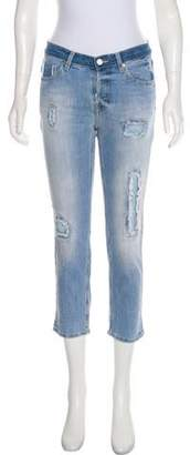 Zadig & Voltaire Distressed Mid-Rise Straight Jeans