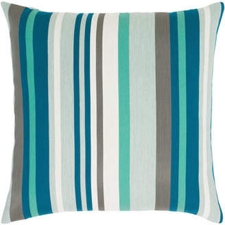 "Elaine Smith Lagoon Stripe Pillow, 20""Sq."