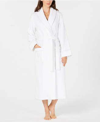Charter Club Luxe Terry Piped Wrap Robe