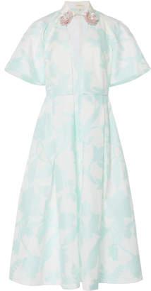 DELPOZO Fil Coupé Cotton-Blend Midi Dress
