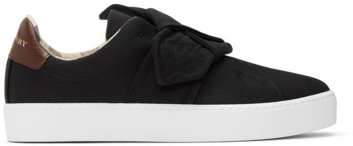 Burberry Black Westford Knot Slip-On Sneakers