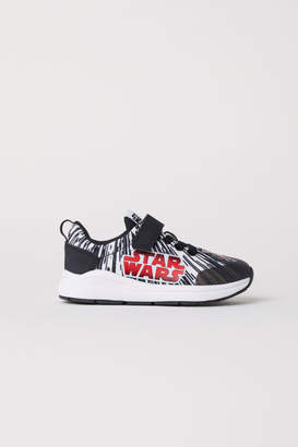 H&M Sneakers with Printed Design - Black