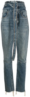Unravel Project belted corset jeans