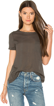 Autumn Cashmere Distressed Pocket Tee in Dark Green $143 thestylecure.com