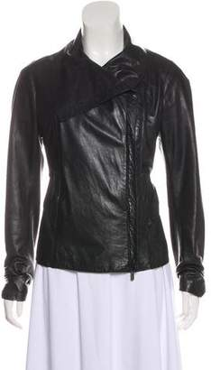 Vince Leather Cropped Jacket