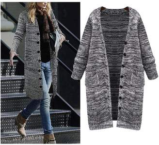 bf0fd40abb6 at Amazon Canada · Kedera Women s Autumn Winter Plus Size Knitted Long Cardigan  Sweater with Pockets (5X-