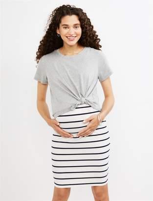 Motherhood Maternity Layered Striped Maternity Dress