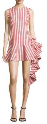 Cara Stripe Flounce Dress