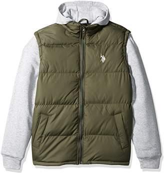 U.S. Polo Assn. Men's Basic Vest With Fleece Hood and Sleeves