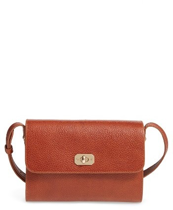 A.p.c. Designer Greenwich Leather Crossbody Bag - Red