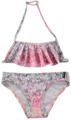 Molo Nula Ruffle-Overlay Safari Bikini, Size 2T-14