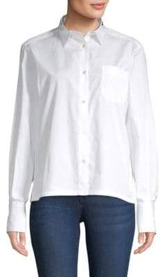 Valentino Long-Sleeve Cotton Button-Down Shirt