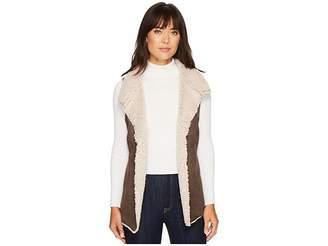 True Grit Dylan by Faux Suede Sherpa Cozy Collar Vest Women's Vest