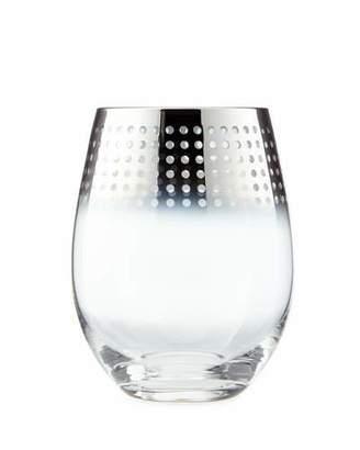 Mikasa Cheers Metallic Stemless Wine Glasses, 4-Piece Set