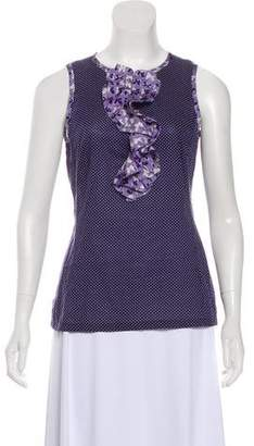 Tory Burch Polka Dot Sleeveless Top