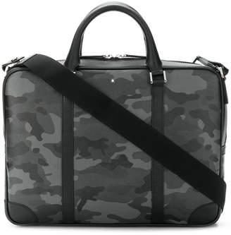 Montblanc camouflage print laptop bag