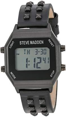 Steve Madden Women's Automatic Resin Casual Watch, Color: (Model: SMW012BK)