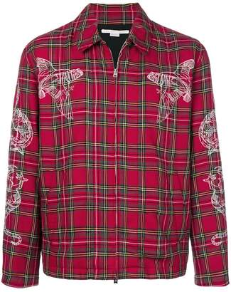 Stella McCartney embroidered tartan shirt