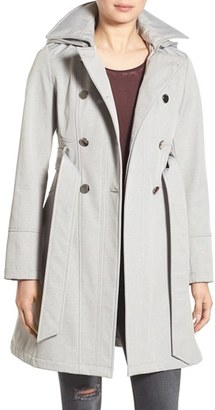 GUESS Hooded Softshell Trench Coat $180 thestylecure.com