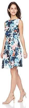 Suite Alice Women's Sleeveless Boat Neck Flare Hem Knee Length Dress