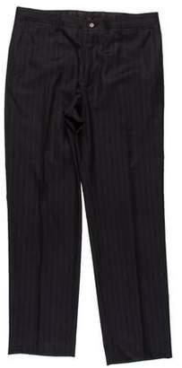 Dolce & Gabbana Virgin Wool Blend Striped Pants