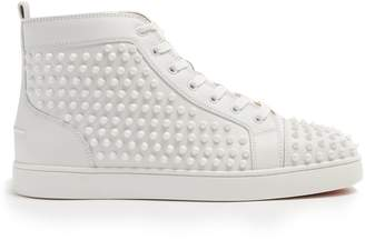 Christian Louboutin Louis spiked leather high-top trainers