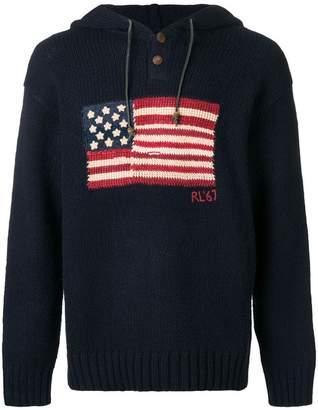 Polo Ralph Lauren USA flag hoodie