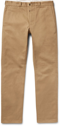 J.Crew Wallace & Barnes Selvedge Cotton-Drill Chinos $290 thestylecure.com