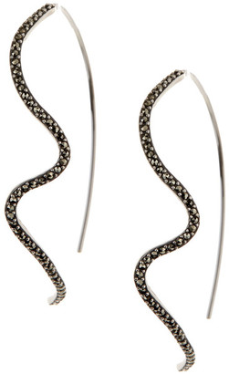 Judith Jack Sterling Silver Marcasite Pull-Through Earrings $98 thestylecure.com