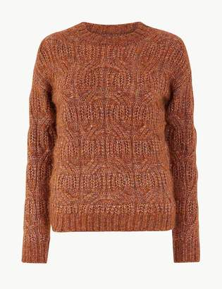 Marks and Spencer Cable Knit Relaxed Fit Jumper