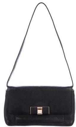 Michael Kors Leather Turn-Lock Bag - BLACK - STYLE