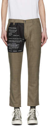 Enfants Riches Deprimes Brown and Black Wool Check Contrast Patch Trousers